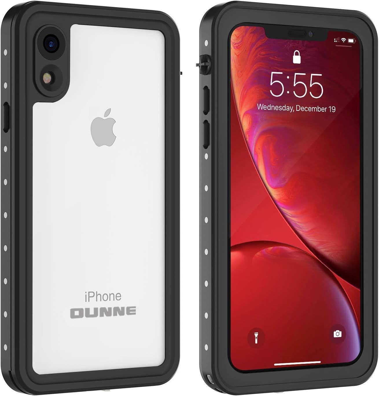 OUNNE iPhone XR Waterproof Case, Full Sealed Underwater Cover Dustproof Snowproof Shockproof Waterproof Phone Case for iPhone XR (Clear)