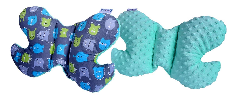 almohada cervical para cochecito de beb/é viaje en coche criaturas con minky minor almohada para dormir Almohada cervical para ni/ños Medi Partners almohada para dormir 100/% algod/ón//Minky