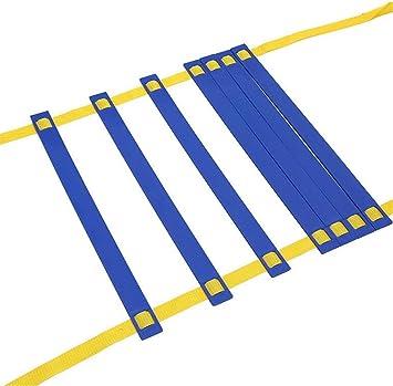 JHKGY Escalera de Agilidad, Gran Equipo de Entrenamiento para ejercitar la Velocidad en,Entrenamiento de fútbol y Deportes,para niños Equipo de Entrenamiento de práctica de Habilidades: Amazon.es: Deportes y aire libre