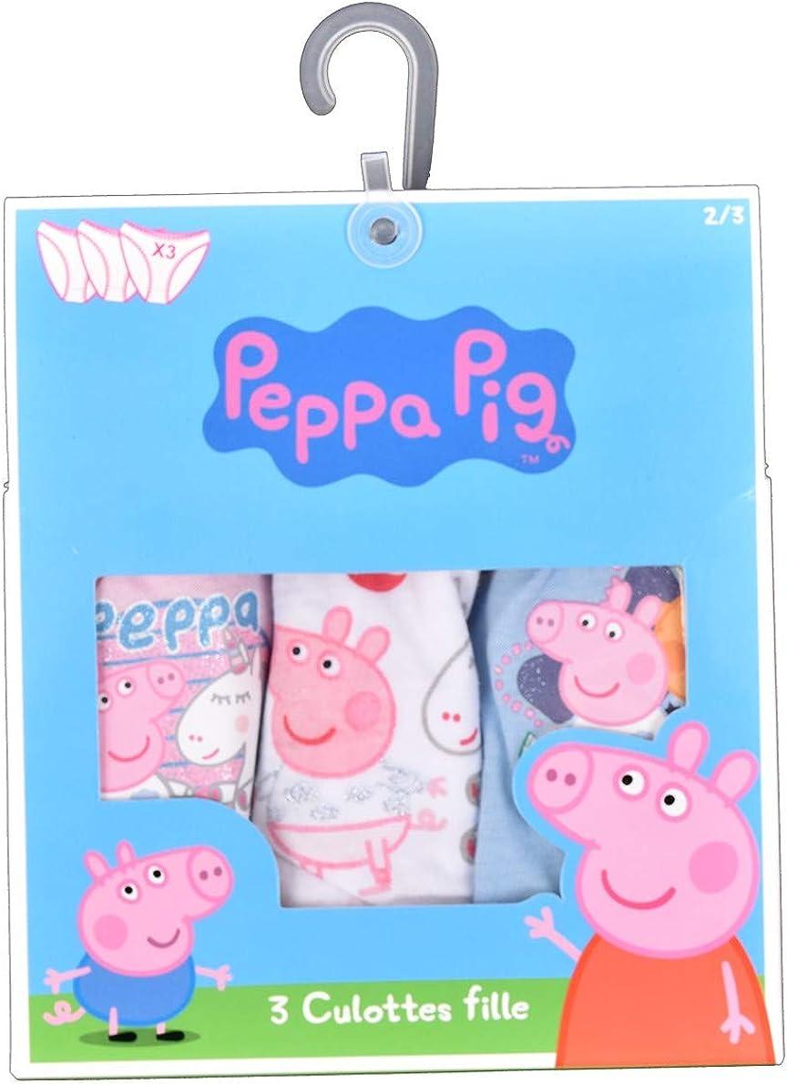 Ozabi Culottes Enfant Licence Peppa Pig en Coton Multicolore