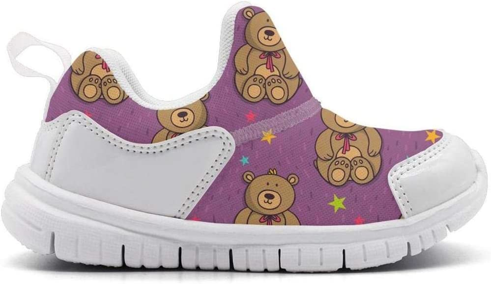 ONEYUAN Children a Cute Teddy Bear Kid Casual Lightweight Sport Shoes Sneakers Walking Athletic Shoes