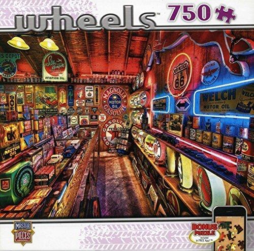Masterpieces Pump Shop Wheels Jigsaw Puzzle (750-Piece) by MasterPieces