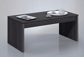 mesa o mesita de centro elevable para salon o comedor en gris ceniza xxcm