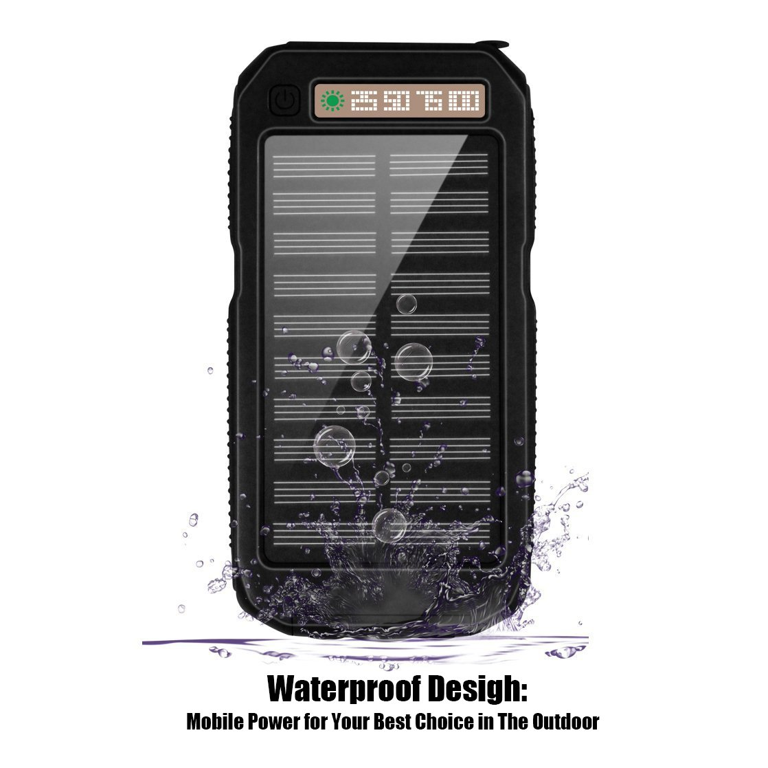 Xnuoyo Power Bank 10000mAh Waterproof Solar Charger with Dual USB Ports External Portable Charger Battery Pack for iPhone, iPad, Samsung, Nexus and Other Smartphones by Xnuoyo (Image #6)