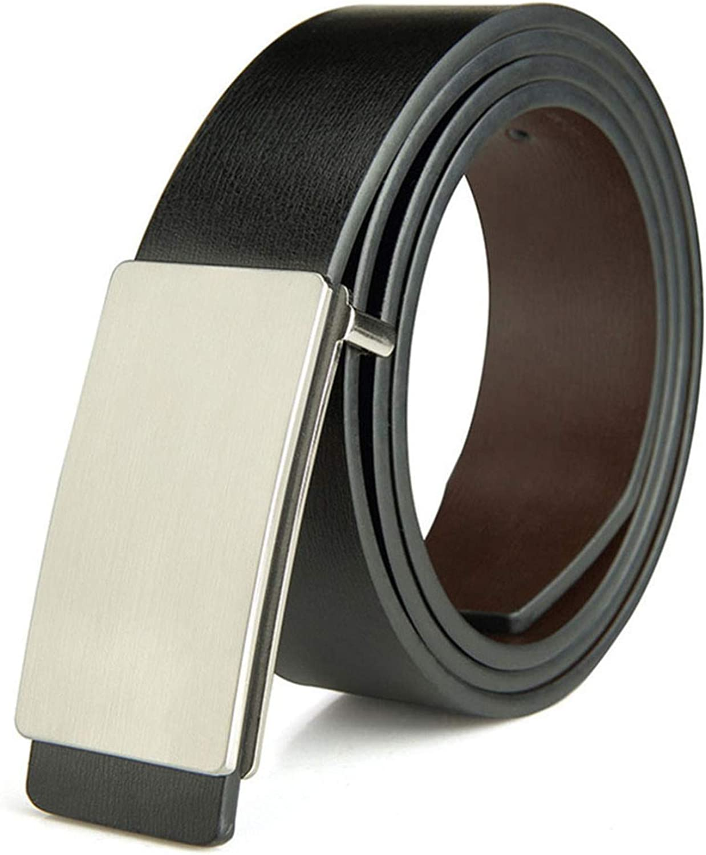 Habitaen Mens Pu 2Nd Layer Genuine Leather Belts Male Jeans Belt Accessories