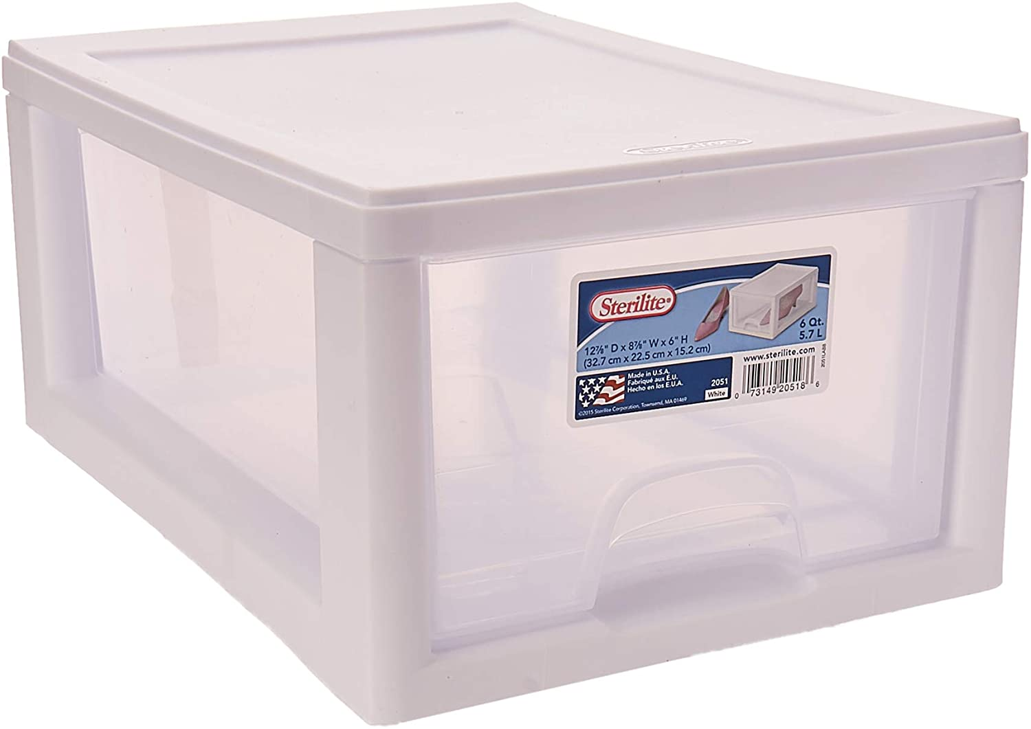 Sterilite 20518006PK2Sackable Storage Drawer, Pack of 2