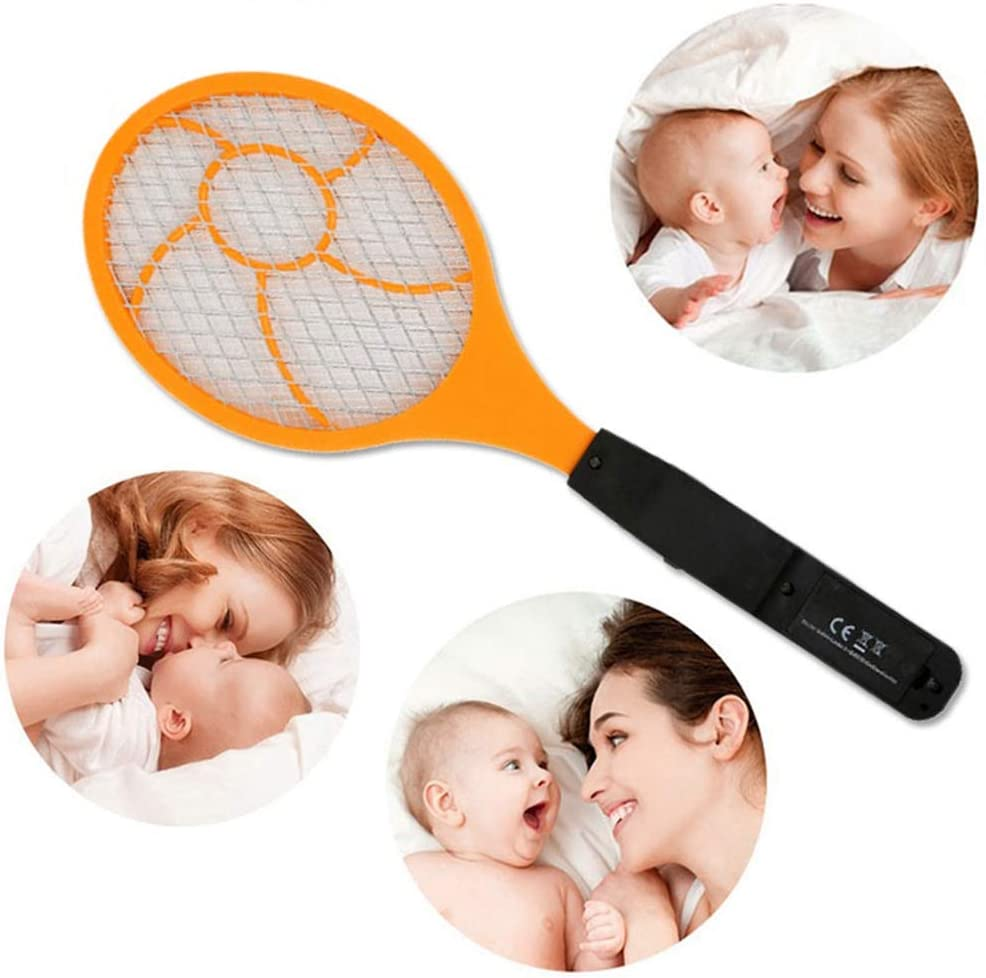PQZATX LED Electric Swatter Flyswatter Electric Tennis Racket 44 x15.5 Wasp Killer
