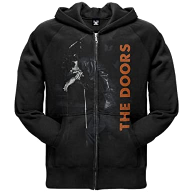 The Doors - Mens Mic Stand Zip Hoodie Small Black OG Exclusive