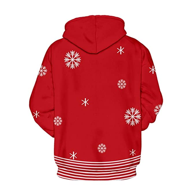 Amazon.com: Mens Sweatshirts Ugly Christmas Hoodies Snowman Funny Print Sweatshirt: Clothing