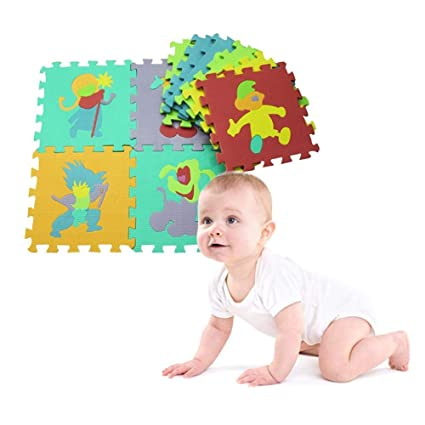 10 Pcs Eva Puzzle Mat Pattern Foam Playmat 30*30cm Environmentally Animal Fruit Car Crawling Mat Rug Early Education Mother & Kids Activity & Gear