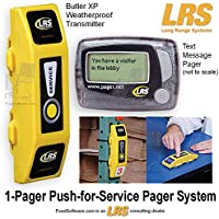 1 Pager Push-for-Service Pager System Kit by LRS Long Range Systems