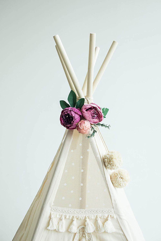 silk flower arrangements garland with flowers, teepee topper, floral garland, peonies garland, flower garland, boho garland, wedding garland, floral nursery, violet