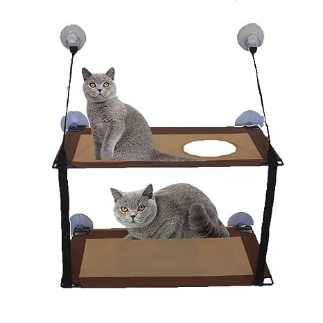 ANPI Cama Colgante para Gato, Hamaca para Ventana de Cama con Ventosa, cómoda y