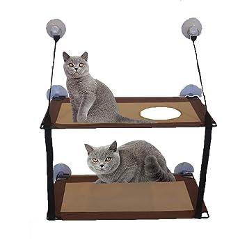 VANELIFE Hamaca para Gato, Cama para Gato, Ventosa Fuerte ...