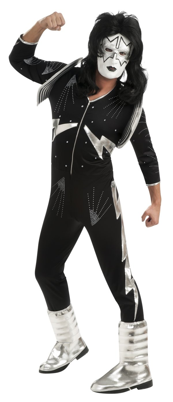 Kiss Deluxe The Spaceman Costume, Black, Large