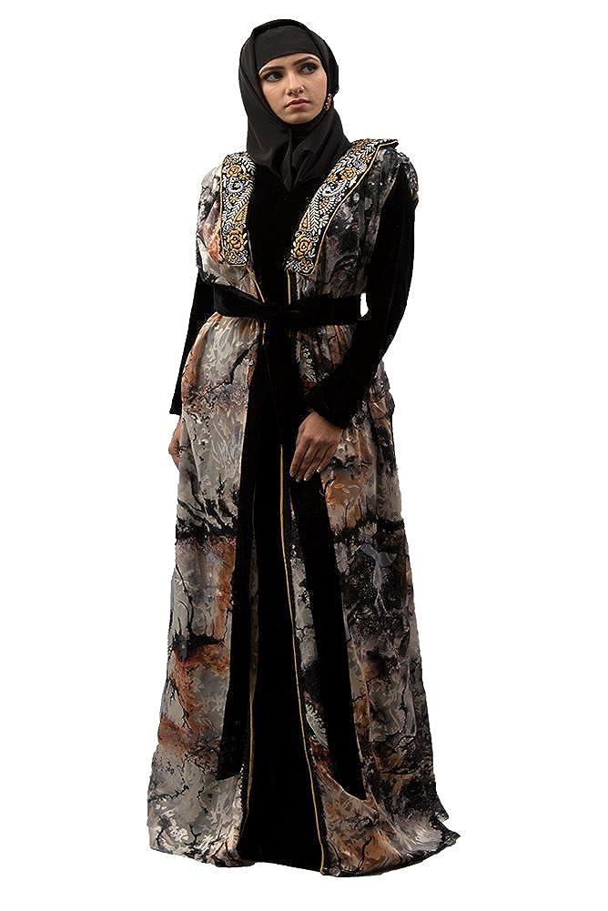 Kolkozy Fashion Women's Morrocon Style Abaya Black