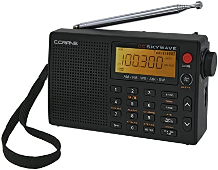 Weather and Airband Portable Travel Radio Shortwave C Crane CC Skywave AM FM