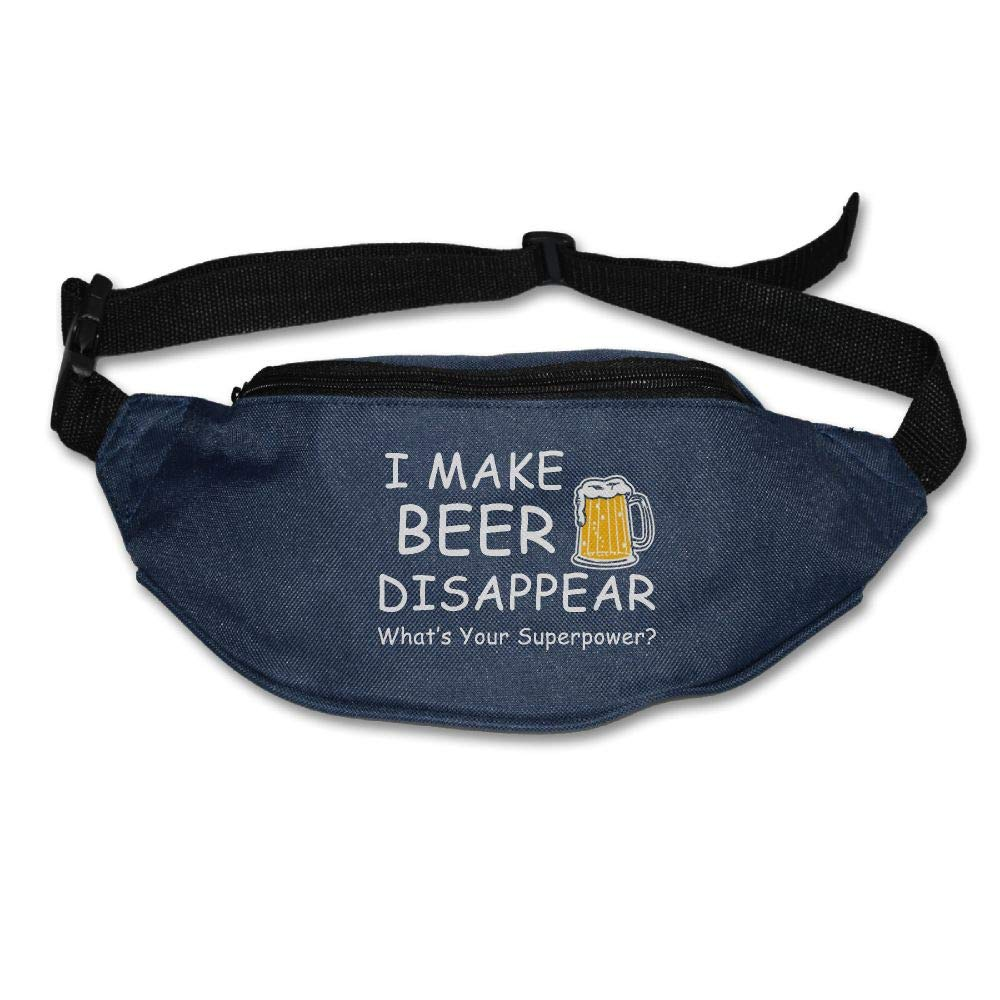 Ada Kitto I Make Beer Disappear, Whats Your Superpower Mens&Womens Sport Style Travel Waist Bag For Running And Cycling Navy One Size
