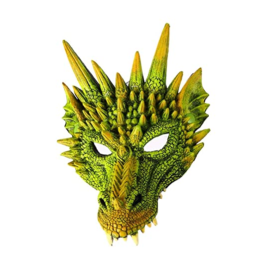 Yunt-11 3D Animal Dragon Mask, 6 Colores Estilo Chino máscara del ...