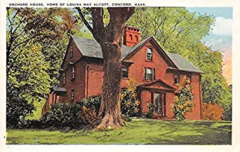 Orchard House Home of Louisa May Alcott Concord Massachusetts Postcard