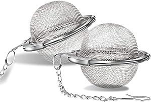 ARKTEK Tea Infuser, Food Grade Stainless Steel Mesh Tea Ball, Tea Filter for Loose Leaf (Pack of 2, Dia. 1.8