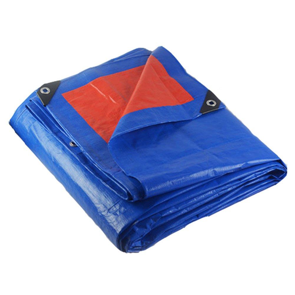 WUFENG オーニング 厚い 不凍液 防水 PE 日焼け止め シェード 老化防止 耐食性 屋外 光 厚さ0.35mm 180g/M2 (色 : 青, サイズ さいず : 2x3m) B07DDJJWD7 10344 2x3m|青 青 2x3m
