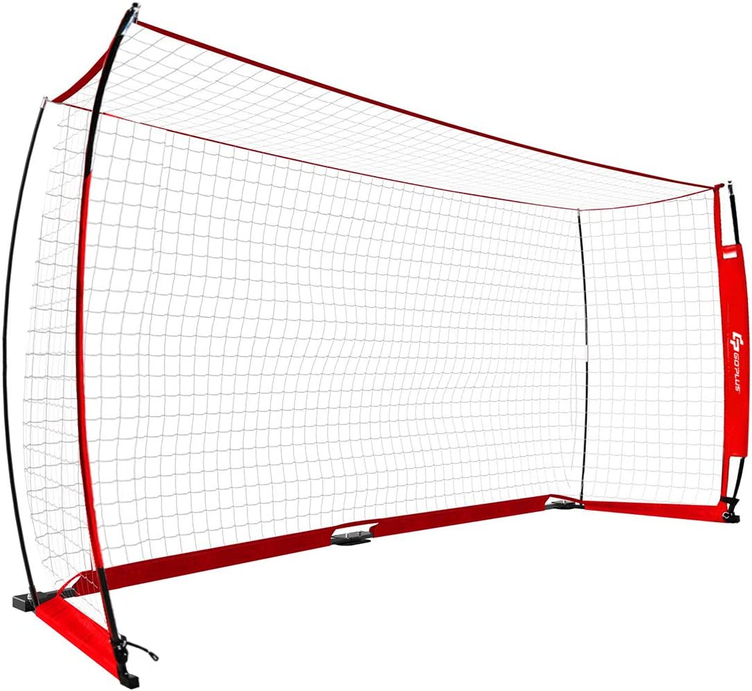 Portable Iron Football Training Game Shot Goals Net with Carry Bag for Outdoor Indoor Maxmass 12 x 6 FT Folding Football Goal
