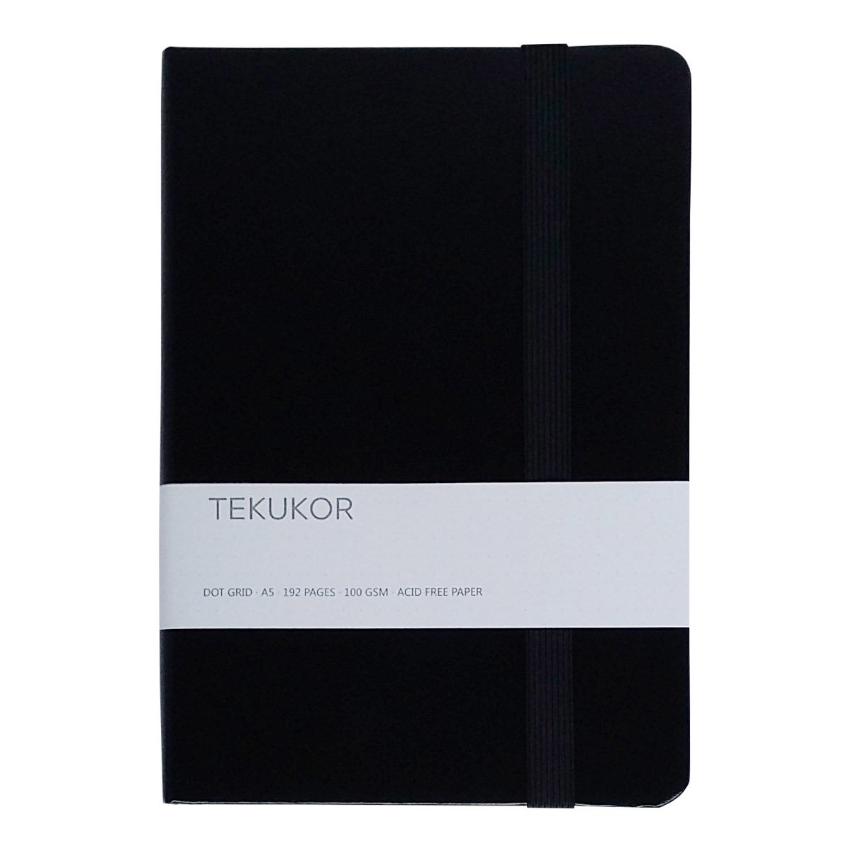 Tekukor A5 Notebook Hardcover Dot Grid - Dotted Pages For Bullet Journal