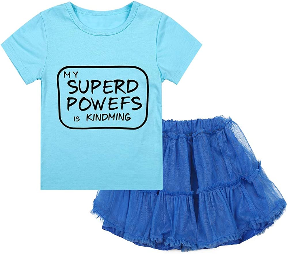 Nwada Girls Shorts and Tshirt Set Toddler Skirt and Tee Shirt Suit Summer Outfit Spring Clothing Party Dress Daily Wear