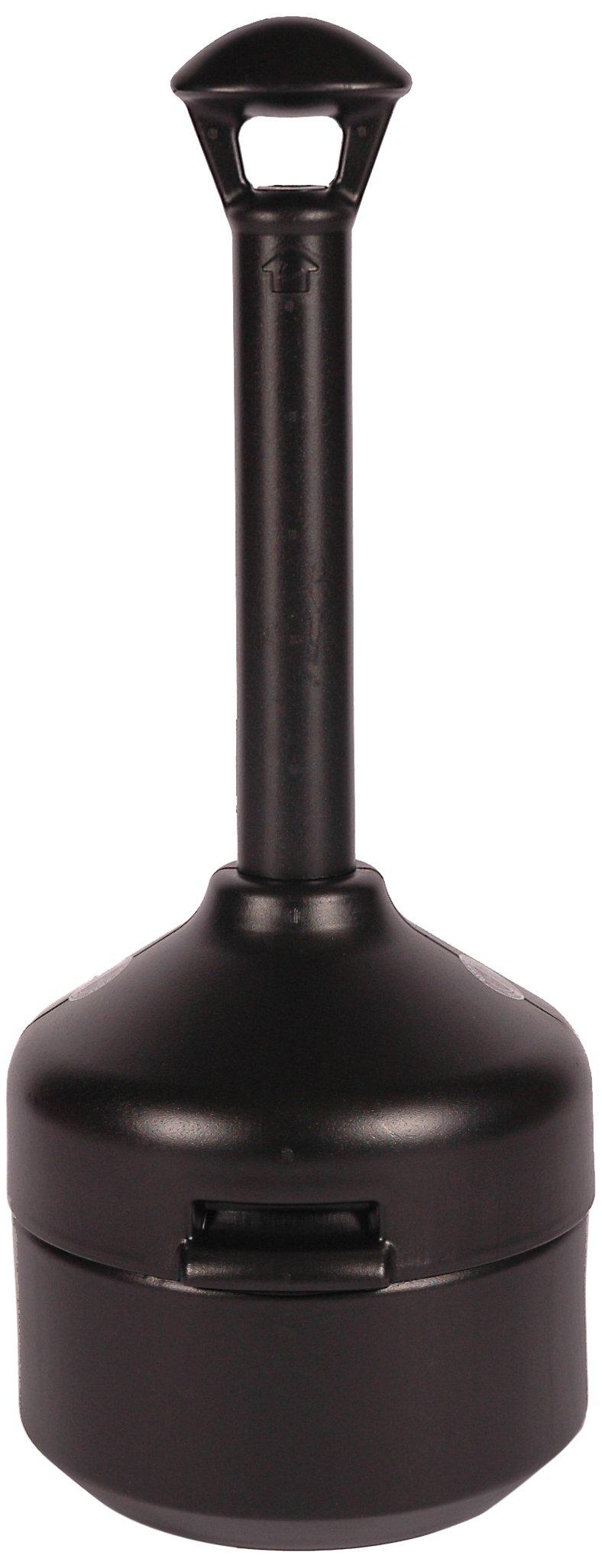 UltraTech 1546 Polyethylene Classic Cigarette Ultra-Smoke Stop Receptacle, 14'' Diameter x 41'' Height, Black by UltraTech