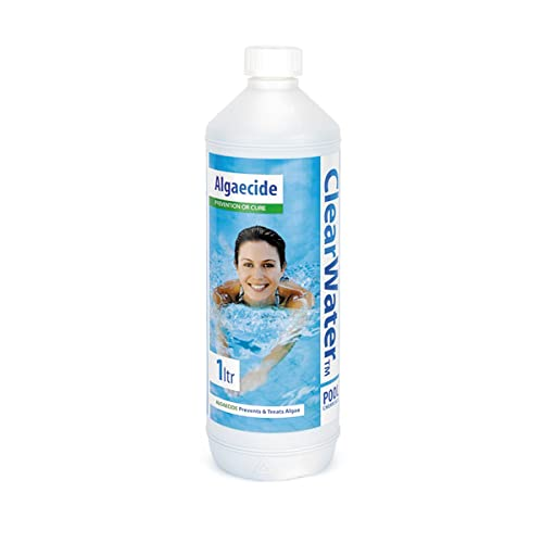 Clearwater CH0006 Algaecide Swimming Pool Spa Treatment, 1 Litre