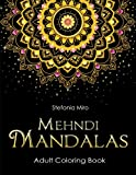 img - for Mehndi Mandalas Adult Coloring Book: Black Background book / textbook / text book