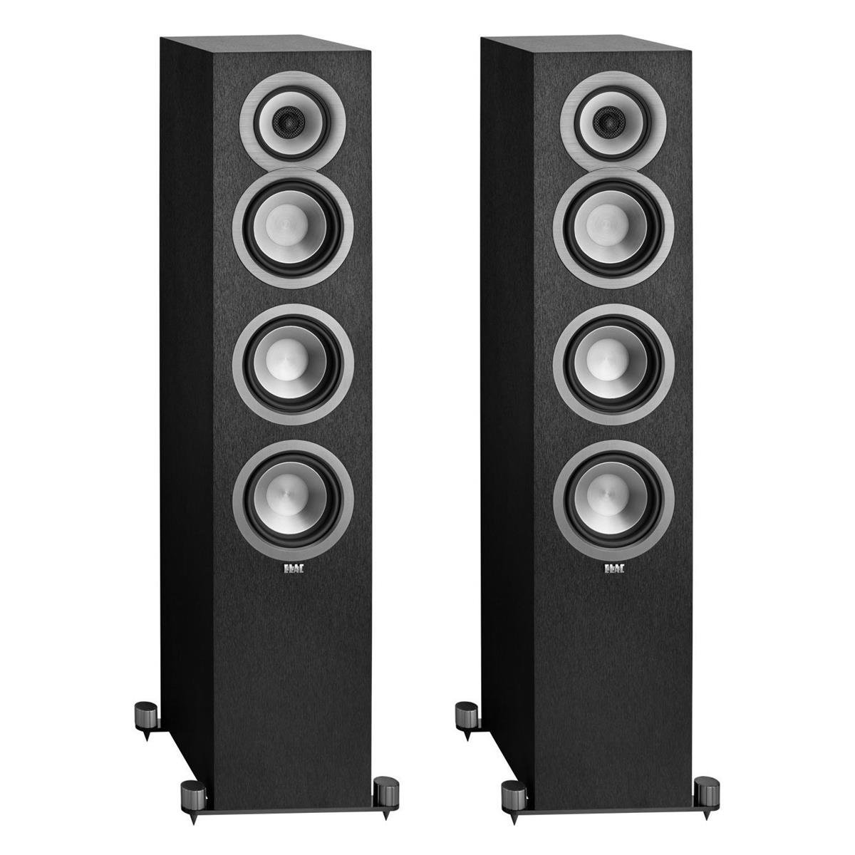 Elac Uni-Fi UF5 3-Way Bass Reflex Floorstanding Speaker (Pair, Black)