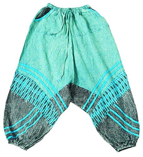 Aladin Azzurro Pantaloni Harem Pantaloni a Xeira Pantaloni Orientali 02 pompa FqSRIwp