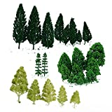 ZILONG 28pcs Model Trees Miniature Landscape Scenery Train Railways Architectural Scale Model Trees 1:50