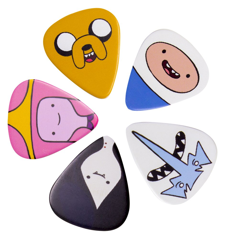 Adventure Time ADVENTPICK5SET1 Guitar Plectrums …