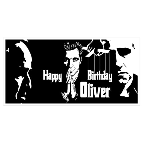 Hollywood Godfather Birthday Banner Personalized Party Backdrop Decoration