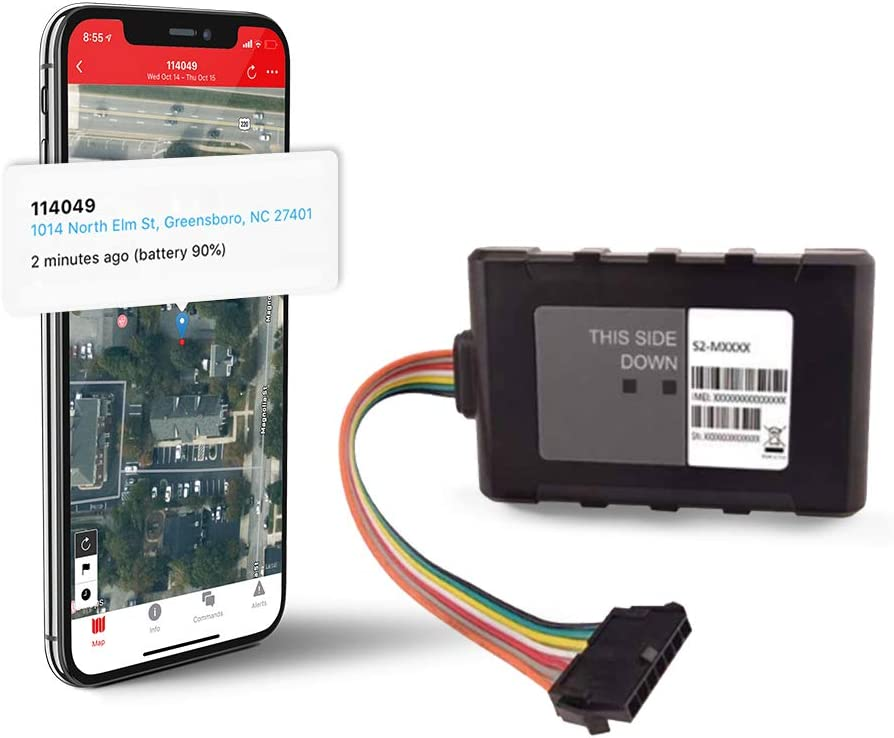 Logistimatics Hardwired 4G LTE Tracker for Vehicles, Trucks, Motorcycles, Equipment with 30-Second Reporting and Battery Backup