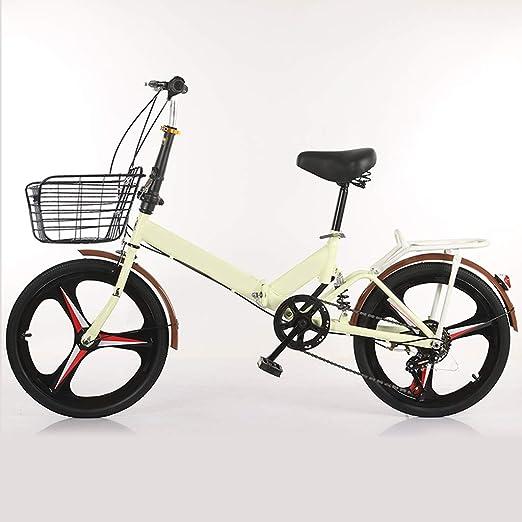 XYSQ Variable Velocidad Bicicleta Plegable 20 Pulgadas, Ligero ...