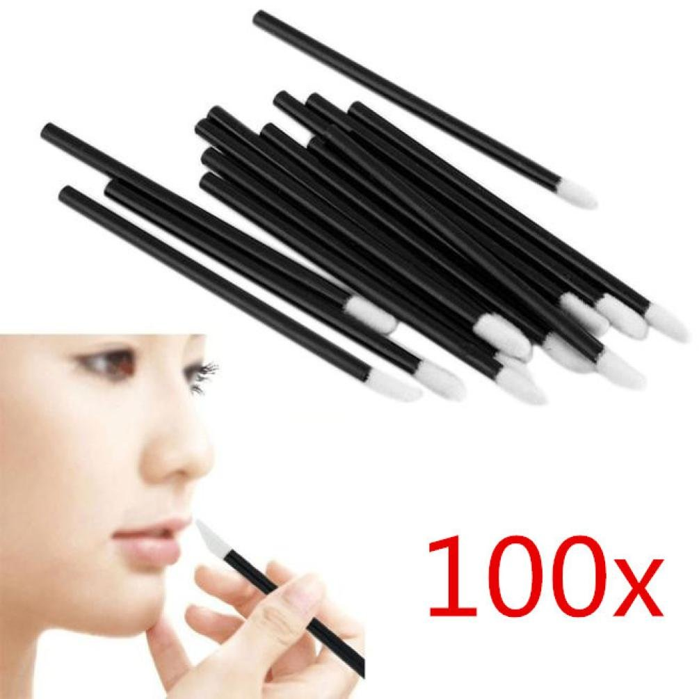 Expxon 100pcs Disposable Lip Brushes Makeup Brush, Professional Lip Brushes Lipstick Lip Wands Gloss Applicators Makeup Lip Liner Brush Cosmetics Make Up Tools