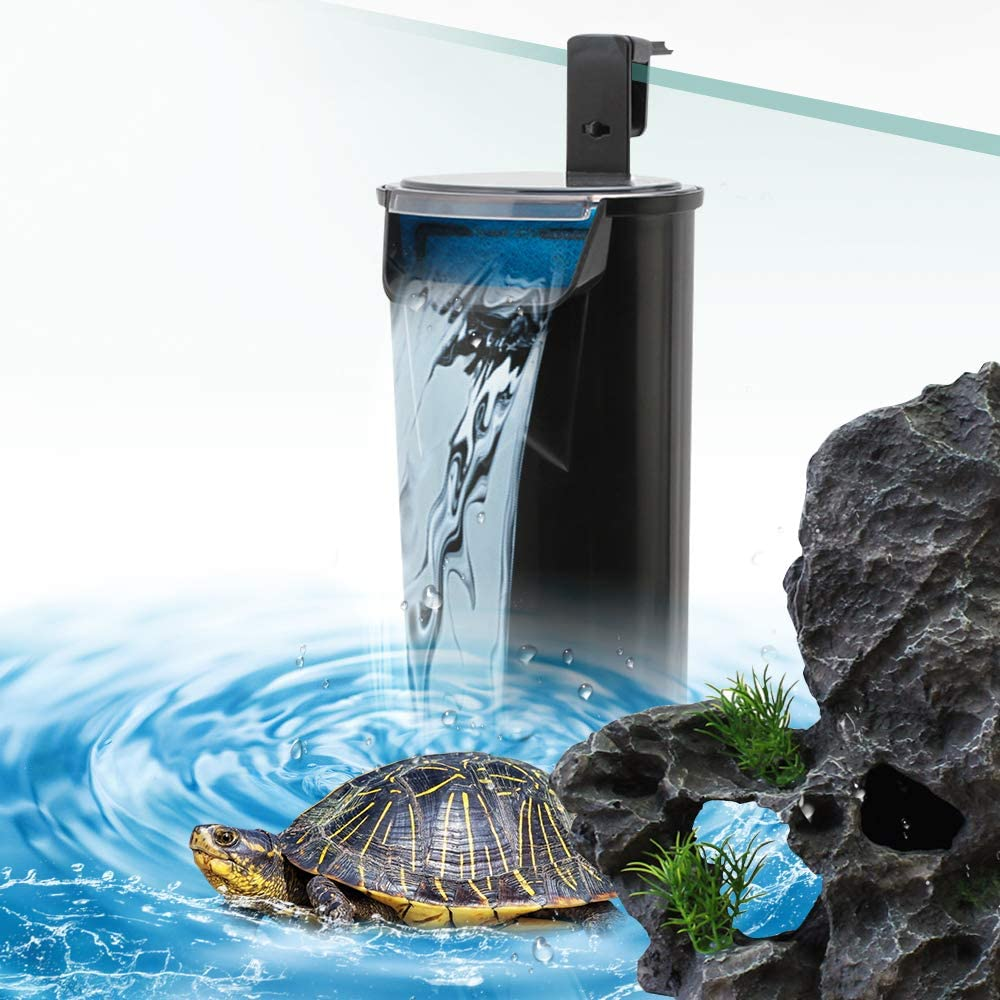 Senzeal Aquarium Turtle Filter Quiet Low Water Level Filter Pump 5W 400L/H Internal Fish Tank Filter for Fish Tank Turtle Tank