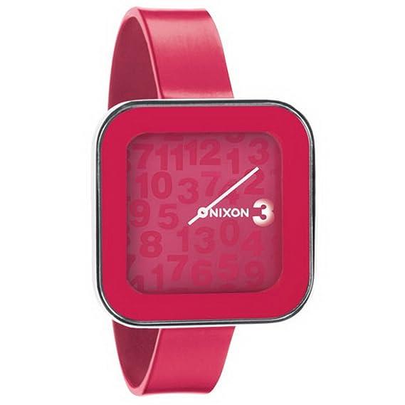 Nixon A162481-00 - Reloj analógico y digital de cuarzo para mujer con correa de silicona, color rojo: Amazon.es: Relojes