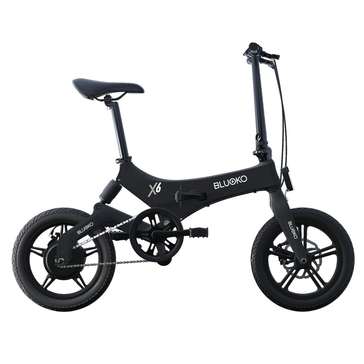 Bluoko Bicicleta eléctrica Plegable (Rojo): Amazon.es: Deportes y aire libre