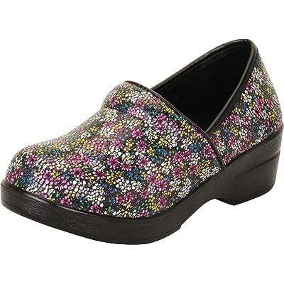 Cambridge Select Women's Classic Professional Work Slip-On Comfort Clog   Mules & Clogs