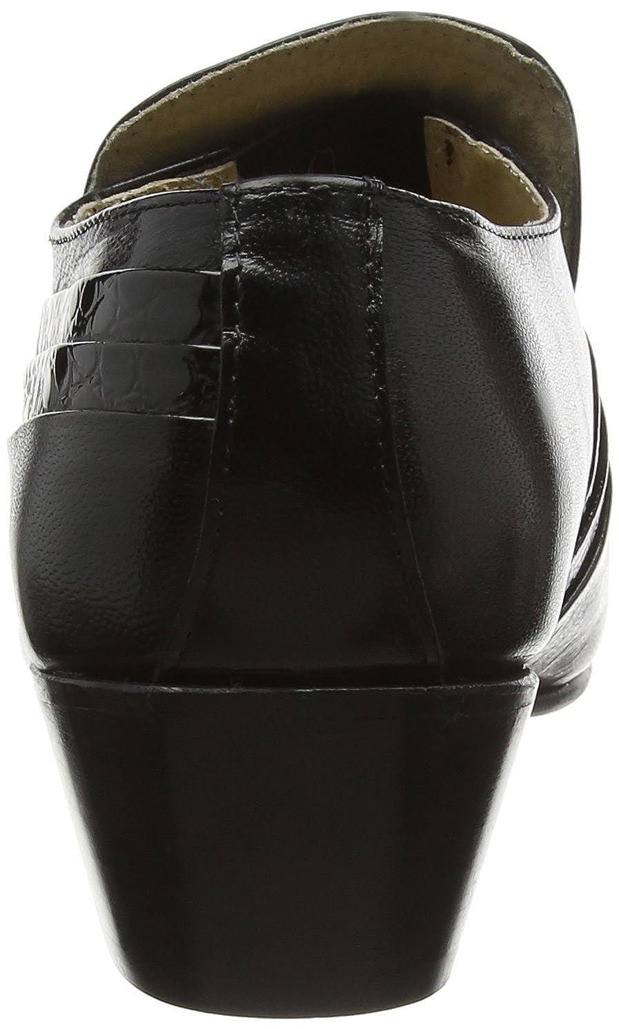 Herren Vamp schwarz Reptil Muster, gefaltet, Vamp Herren Tab Casual Schuh Schwarz 8411bc