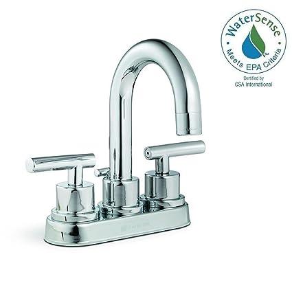 Pegasus Dorset 4 in. 2-Handle High-Arc Bathroom Faucet in Chrome ...