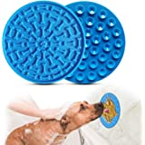 Aoche Lick Mat for Dogs Slow Feeder Pad with Super Strong Suction Washing Distraction Device for Dog Treats, Cat Food…