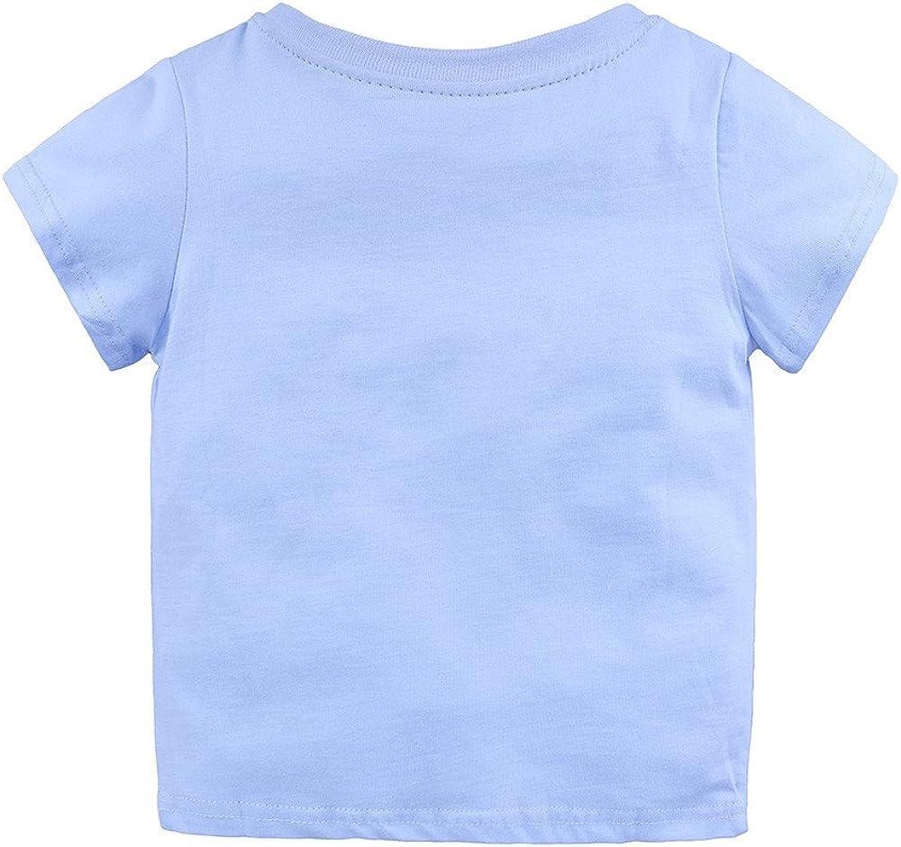 Kid T-Shirt Toddler Boy Girl Summer Clothes Outfit Short Sleeve Cartoon Print Tee Shirt Top Kehen
