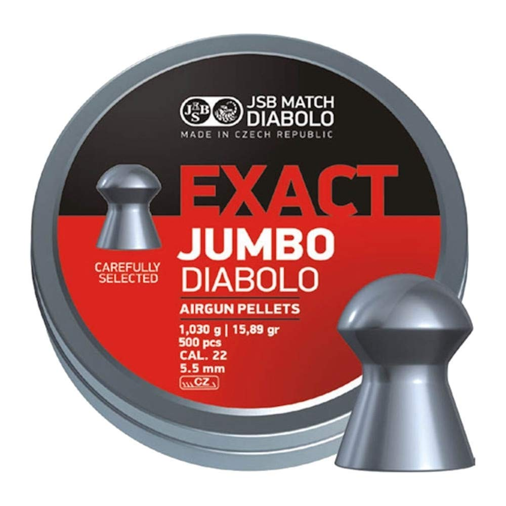 JSB .22 5.52 mm Exact Jumbo Diablo Air Gun Pellets 500 Tin
