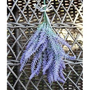 4pcs Artificial Flocked Lavender Bouquet in Purple Flowers Arrangements Bridal Home DIY Floor Garden Office Wedding Decor 4
